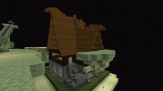 屋根と柱を設置完了:ジ・エンド拠点