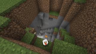 牧場(仮)のど真ん中にある洞窟入り口