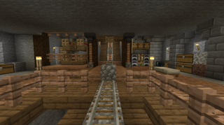 採掘場のトロッコ駅