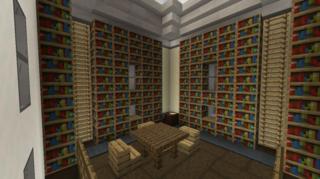 2階本棚側:図書館