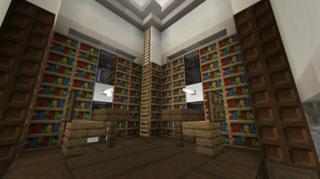 二階閲覧室1:アムール村図書館