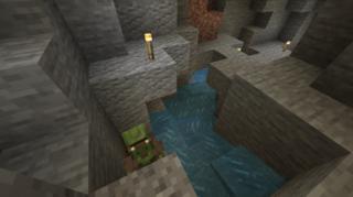 さらにはまっている村人ゾンビ:牧場(仮)下の洞窟