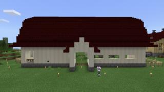 牛舎外観正面1:牧場