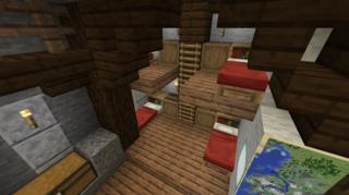 採掘場内休憩室内部