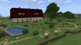 牛舎外観裏面2:牧場
