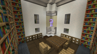2階踊り場側:図書館