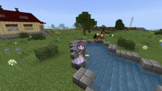 羊の放牧場に水飲み場を作りました