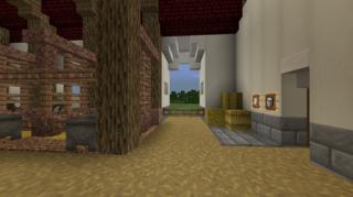 牛舎内装玄関側