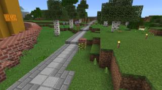 プルミ採掘場方面の街道