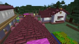 ネザーレンガの屋根
