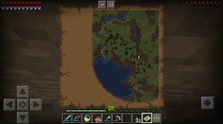 下の溶岩のところが目的地